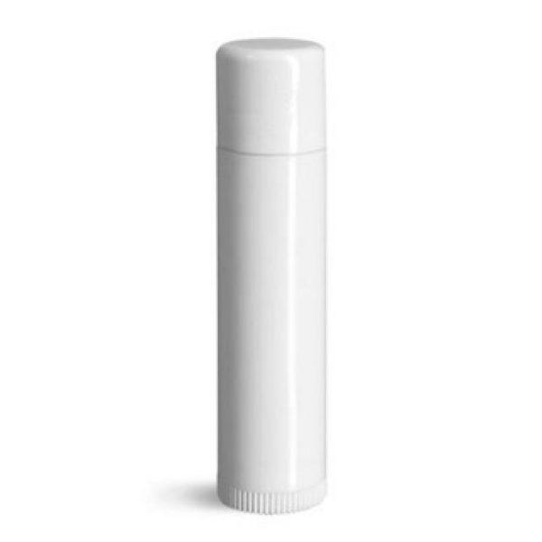 Tube blanc pour baume à lèvres
